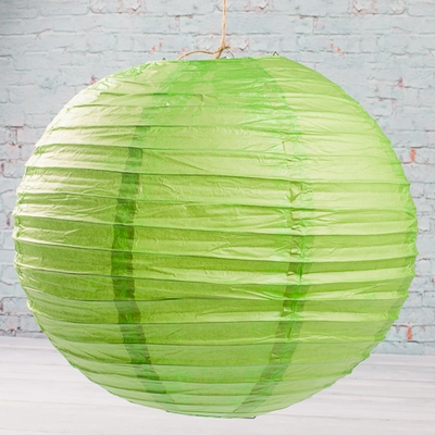 "Paper Lanterns  12""  LIME GREEN Set of 10"