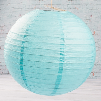 "12"" TURQUOISE BLUE Paper Lanterns Set of 10"