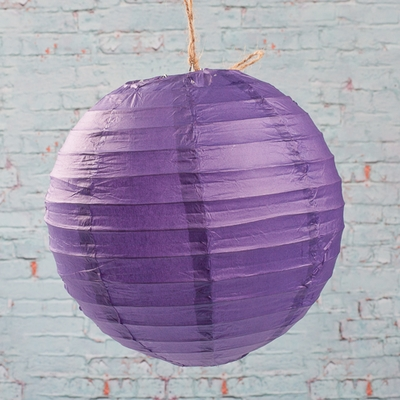"10 Purple 8"" Paper Lanterns   (PACK of 10)"