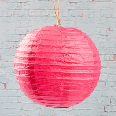 "10 Japanese Paper Lantern - Pink - 8""  (PACK of 10)"