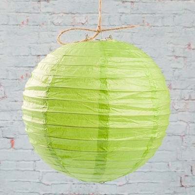 "8"" LIGHT GREEN Paper Lanterns (PACK of 10)"