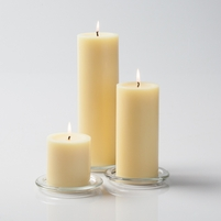 "Pillar Candles 3"" Ivory Set of 3"