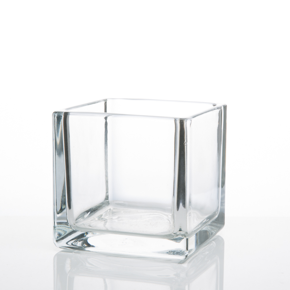 Square Glass Vases 4x4