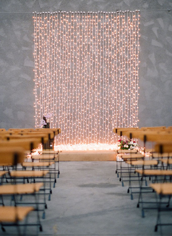 String Lights Backdrop : Top 10 Wedding Backdrop Ideas