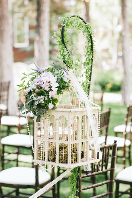 Birdhouse Wedding Decorations : Table numbers affix your to bird cages photo