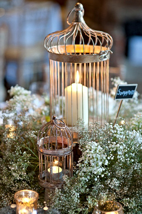 Centerpiece Arrangements Use Bird Cages