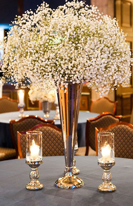 Top 12 christmas centerpieces White christmas centerpieces