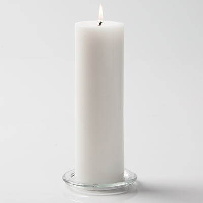 "Unity Candle White 3x9 Unscented  9"" Pillar"