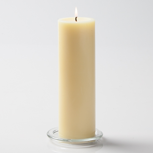 "Unity Candle Ivory 3x9 Unscented 9"" Pillar"