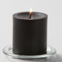 Black 3in Pillar Candles