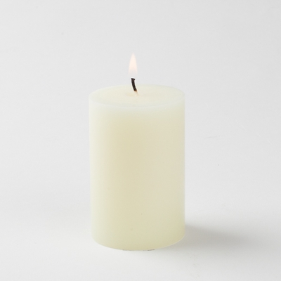 20 hr -Mini Pillar Candles Ivory (Pack of 20)