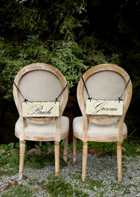 Wedding Chair Sashes, Banners, Signs