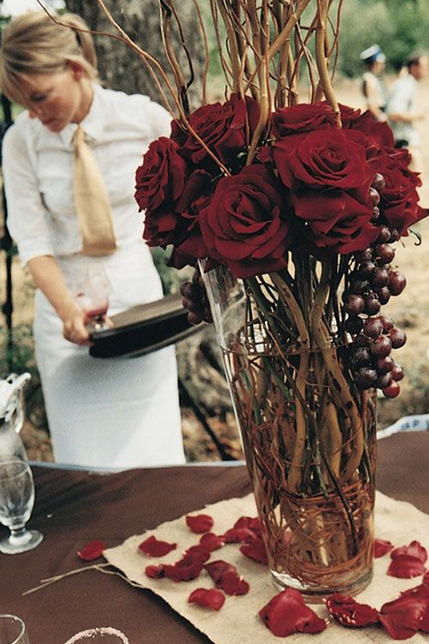 Wedding colors top marsala decorations