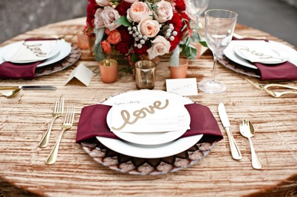 Wedding Colors: Top 7 Marsala Decorations