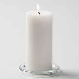 White Pillar Candles 6 In Pack Of 12