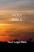 """<span style=""""color: #b20606;"""">Custom</span> KJV Economy Outreach Bible (Paperback, Sunset - 100 or more Bibles)"""