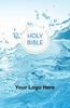 "<span style=""color: #b20606;"">CUSTOM</span> KJV Economy Outreach Bible (Paperback, Water Splash - 100 or more Bibles)"