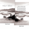 CUSTOM NIV Economy Outreach New Testament w/ Psalms & Proverbs, Compact (Paperback, Rolling Hills Blk/Wht - 1000 or more Bibles)