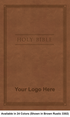 "<span style=""color: #b20606;"">Custom</span> NIV Leathersoft Bible, Larger Print, Available in 24 Colors (Cover 8, Leathersoft - 1,000 or more Bibles)"