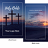 "<span style=""color: #b20606;"">Custom</span> NIV Larger Print Bible (Paperback, Crosses Beach - 100 or more Bibles)"