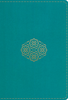 ESV LARGE PRINT Compact Bible (Imitation Leather, Teal w/Bouquet - Case of 28)