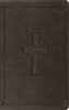 ESV LARGE PRINT Thinline Bible (Imitation Leather, Charcoal w/Celtic Cross - Case of 16)