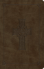 ESV Large Print Thinline Reference Bible (Imitation Leather, Olive w/Celtic Cross - Case of 12)