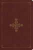 ESV Single Column Personal Size Bible (Imitation Leather, Deep Brown w/Ornate Cross - Case of 18)