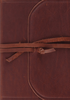 ESV Study Bible (Natural Leather, Flap w/Strap - Case of 6)