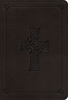 ESV Value LARGE PRINT Compact Bible (Imitation Leather, Charcoal w/Celtic Cross - Case of 28)