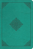 ESV Value LARGE PRINT Compact Bible (Imitation Leather, Teal w/Ornament Design - Case of 28)