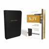KJV Reference Bible, Giant Print (Bonded Leather, Black - Case of 12)