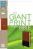 NIV Compact Bible, GIANT PRINT (Leathersoft, Brown/Black - Case of 12)