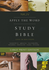 NKJV Apply the Word Study Bible, LARGE PRINT, Indexed (Imitation Leather, Brown - Case of 8)