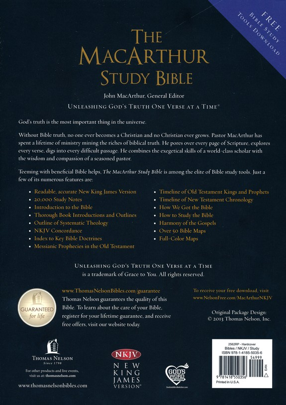 NKJV MacArthur Study Bible (Hardcover - Case of 12)