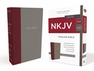 NKJV Thinline Bible (Cloth Over Board, Gray/Burgundy - Case of 24)