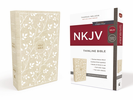 NKJV Thinline Bible (Cloth Over Board, Tan/White - Case of 24)