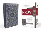 NKJV Thinline Bible, Compact (Cloth Over Board, Blue/Green - Case of 32)