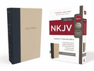 NKJV Thinline Bible, Compact (Cloth Over Board, Tan/Blue - Case of 32)
