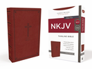 NKJV Thinline Bible (Imitation Leather, Red - Case of 24)