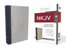 NKJV Thinline Bible, Large Print (Cloth over Board, Gray/Blue - Case of 16)