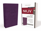 NKJV Value Thinline Bible, LARGE PRINT (Imitation Leather, Purple - Case of 16)