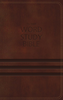 NKJV Word Study Bible (Imitation Leather, Brown - Case of 12)
