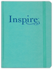 NLT Inspire Bible: The Bible for Creative Journaling (LeatherLike, Aquamarine - Case of 12)