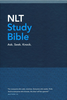 NLT Study Bible (Hardcover, Blue Fabric - Case of 8)
