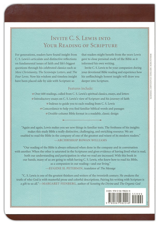 NRSV The C S  Lewis Bible (Bonded Leather, Brown - Case of 12)