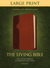 TLB The Living Bible, LARGE PRINT (Imitation Leather, Brown/Tan - Case of 12)