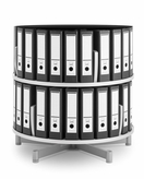 2 Tier  Binder Carousel Shelving