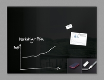 "47"" x 35"" Magnetic Glass Board Kit"