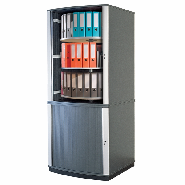 5 Tier Lockfile Carousel Cabinet